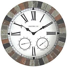FirsTime & Co.® Garden Stone Outdoor Clock