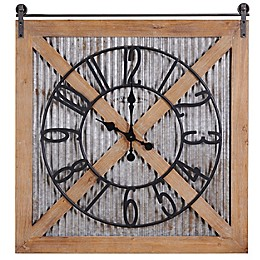 FirsTime & Co.® Fieldhaven Farmhouse Barn Door Clock