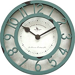 FirsTime & Co.® Sage Raised Farmhouse 8-Inch Wall Clock in Sage Green