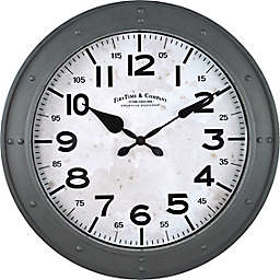 FirsTime & Co.® 18-Inch Donovan Wall Clock in Grey