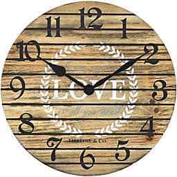 FirsTime & Co.® 12-Inch Love Pallets Farmhouse Wall Clock