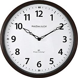 FirsTime® Nolan Whisper 12-Inch Wall Clock in Dark Espresso