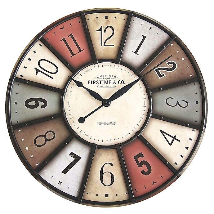 Alternate image 1 for FirsTime & Co.® Color Motif Farmhouse Wall Clock