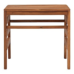 Forest Gate Rectangular Acacia Wood Patio Side Table