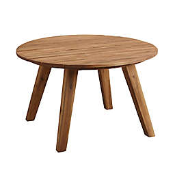 Forest Gate 30-Inch Round Acacia Wood Patio Coffee Table in Brown