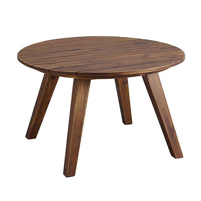 Alternate image 1 for Forest Gate 30-Inch Round Acacia Wood Patio Coffee Table