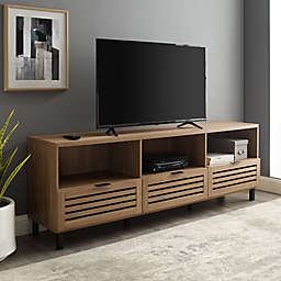 Forest Gate™ Jackson Slatted Door TV Stand in English Oak
