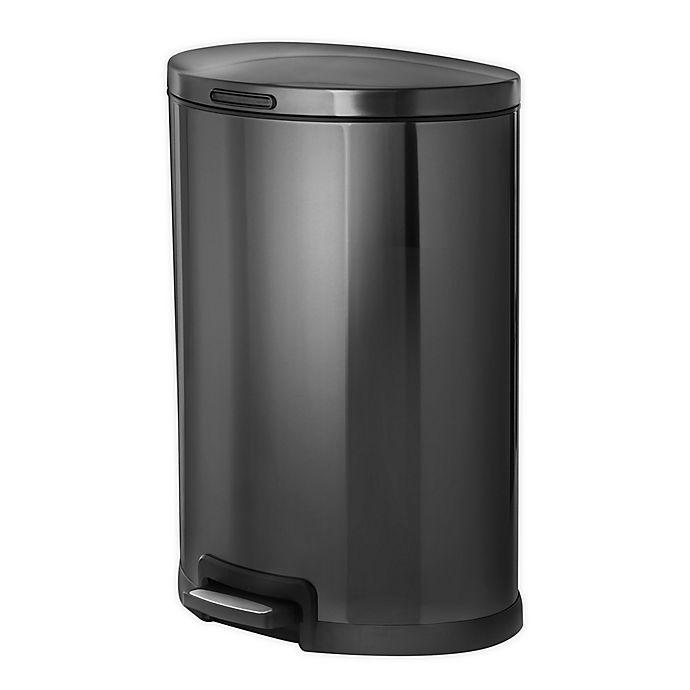 Alternate image 1 for Home Zone Testrite 45-Liter Semi Round Trash Bin