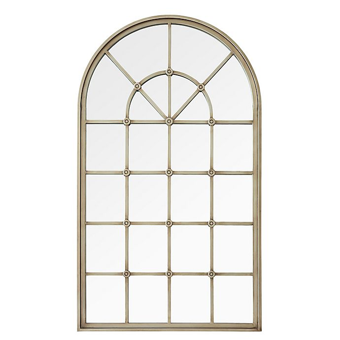 Alternate image 1 for Forest Gate 50-Inch Arched Window Wall Mirror