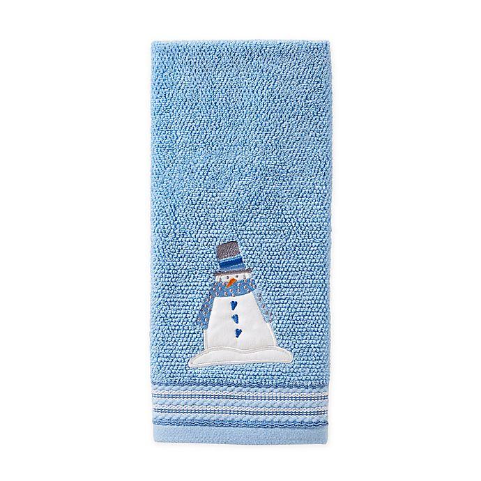 Alternate image 1 for SKL Home Snow Buddies Hand Towel in Blue