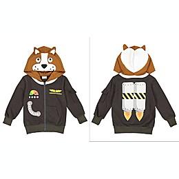 Doodle Pants® Commander Space Dog 3D Hoodie in Brown