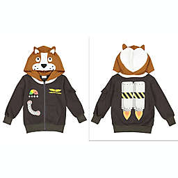 Doodle Pants® Commander Space Dog 3D Hoodie in Brown