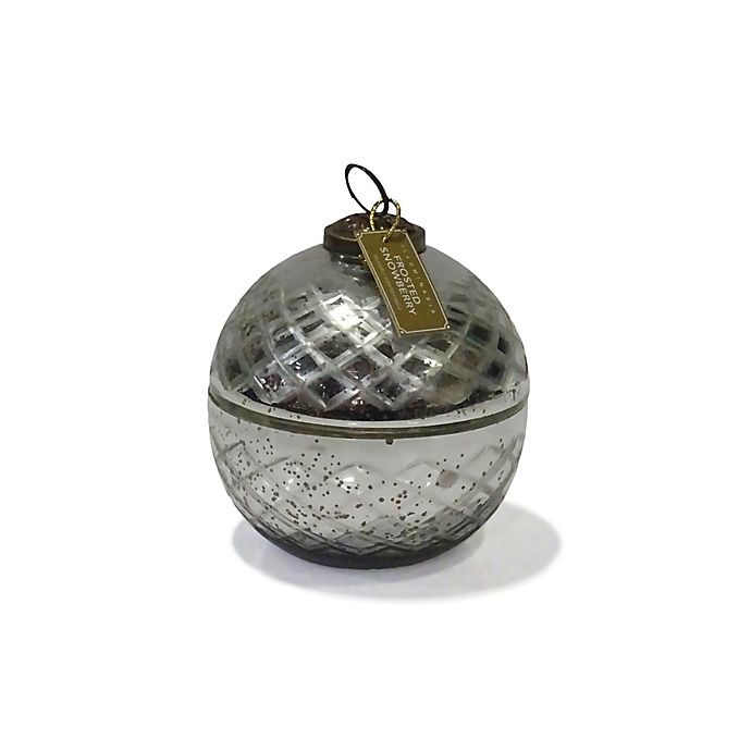 Alternate image 1 for Zodax Small Ornament Jar Candle in Silver
