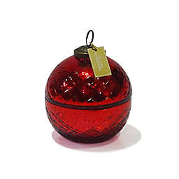 Zodax Small Ornament Jar Candle in Red