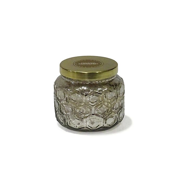 Alternate image 1 for Zodax Embossed Scented Candle with Gold Lid