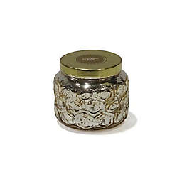 Zodax Embossed Scented Small Candle with Gold Lid in Gold
