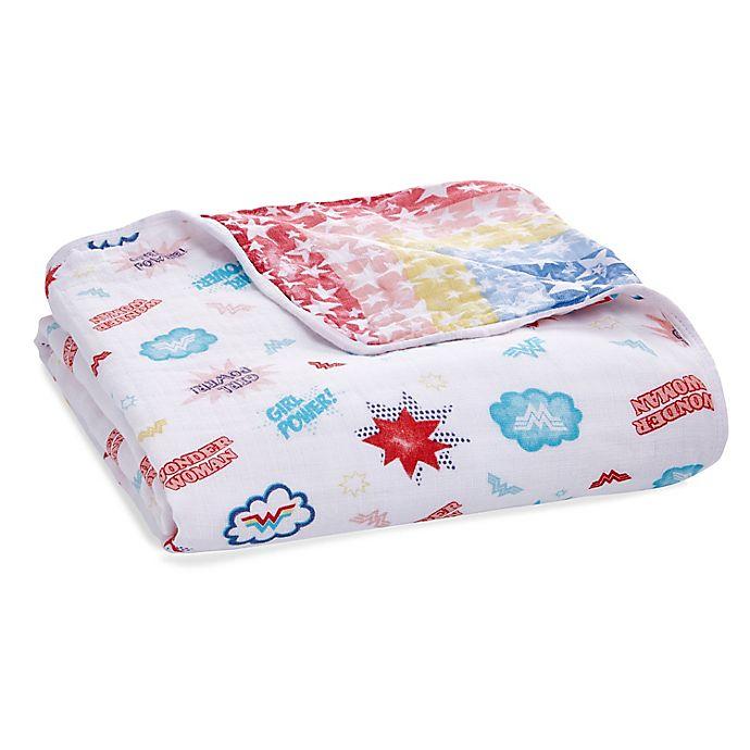 Alternate image 1 for aden + anais® essentials Wonder Woman Muslin Blanket