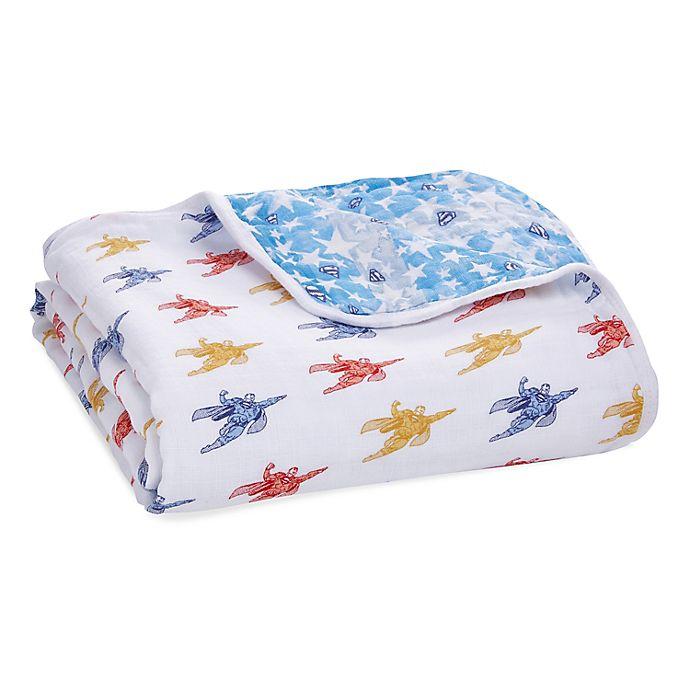 Alternate image 1 for aden + anais® essentials Superman Muslin Blanket