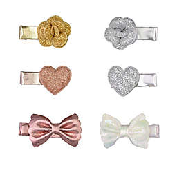carter's® 6-Pack Rose Mini Clips in White/Pink