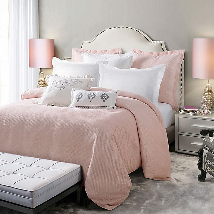 Alternate image 1 for HiEnd Accents Jolie Reversible Queen Duvet Cover in Pink