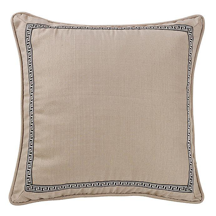 Alternate image 1 for HiEnd Accents Greek Key European Pillow Sham in Black