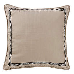 HiEnd Accents Greek Key European Pillow Sham in Black