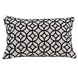 HiEnd Accents Augusta Velvet Oblong Throw Pillow in White