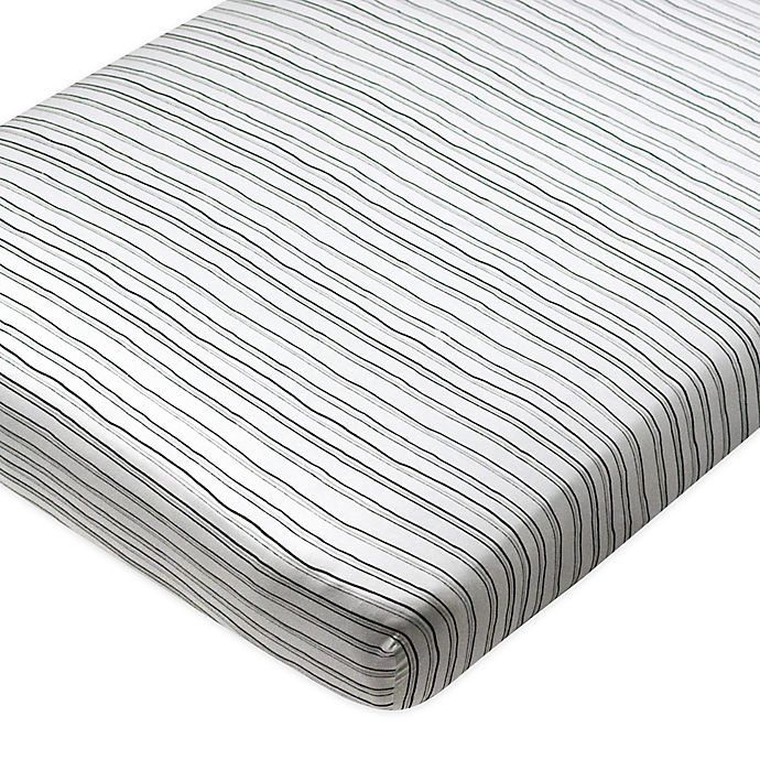 Alternate image 1 for The Honest Company® Striped Organic Cotton Fitted Crib Sheet