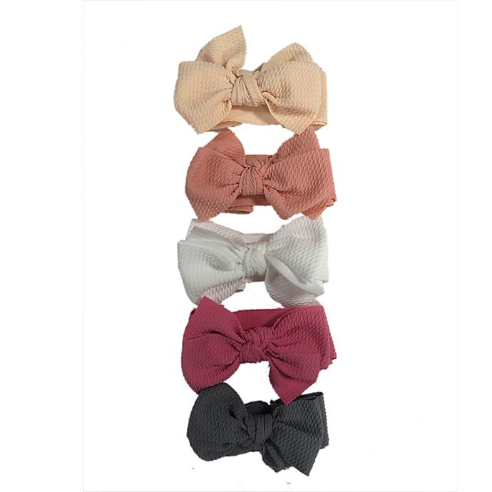 Alternate image 1 for Curls & Pearls 5-Pack Mini Stretch Bows