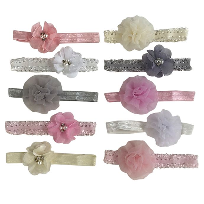 Alternate image 1 for Curls & Pearls 10-Pack Fall Styles Mixed Headbands