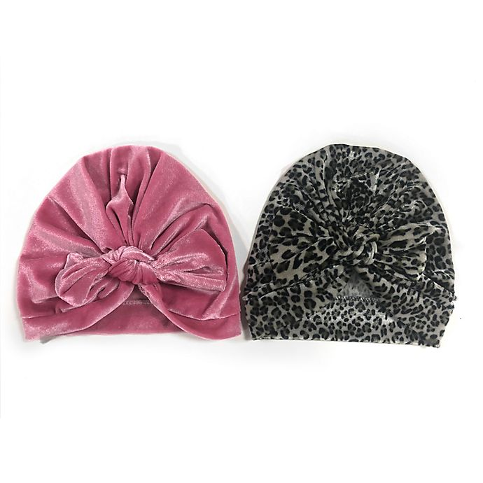 Alternate image 1 for Curls & Pearls 2-Piece Velour Hats