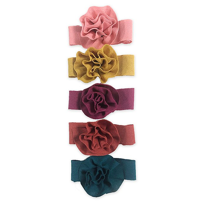 Alternate image 1 for Curls & Pearls 5-Pack Mixed Flowers Headbands