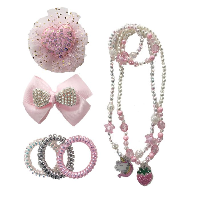Alternate image 1 for Curls & Pearls 9-Piece Jewelry and Hair Accessory Set