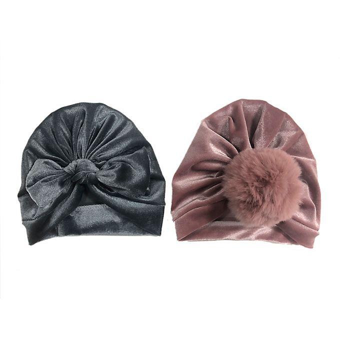Alternate image 1 for Curls & Pearls 2-Piece Faux Fur Velour Hats