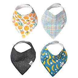 Copper Pearl 4-Pack Citrus Bandana Bibs