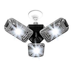Bell + Howell 50-Watt Equivalent Triburst Utility Light in Silver