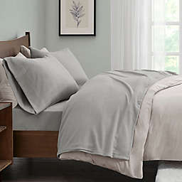 True North by Sleep Philosophy Micro Fleece King Sheet Set in Grey