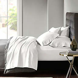 Madison Park 800 Thread Count Cotton Blend Split King Sheet Set in White (Set of 7)