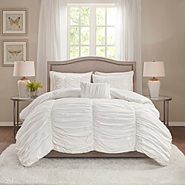 Madison Park Delancey 4-Piece Comforter Set in White