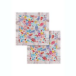 Loulou Lollipop Light Field Flowers Muslin Security Blankets (Set of 2)