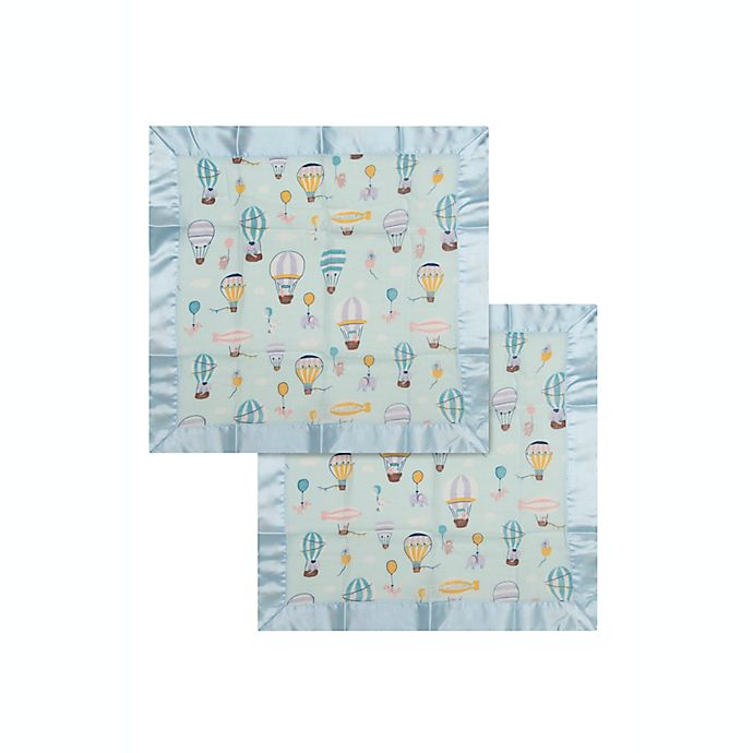 Alternate image 1 for Loulou Lollipop Up Up Away Muslin Security Blankets (Set of 2)
