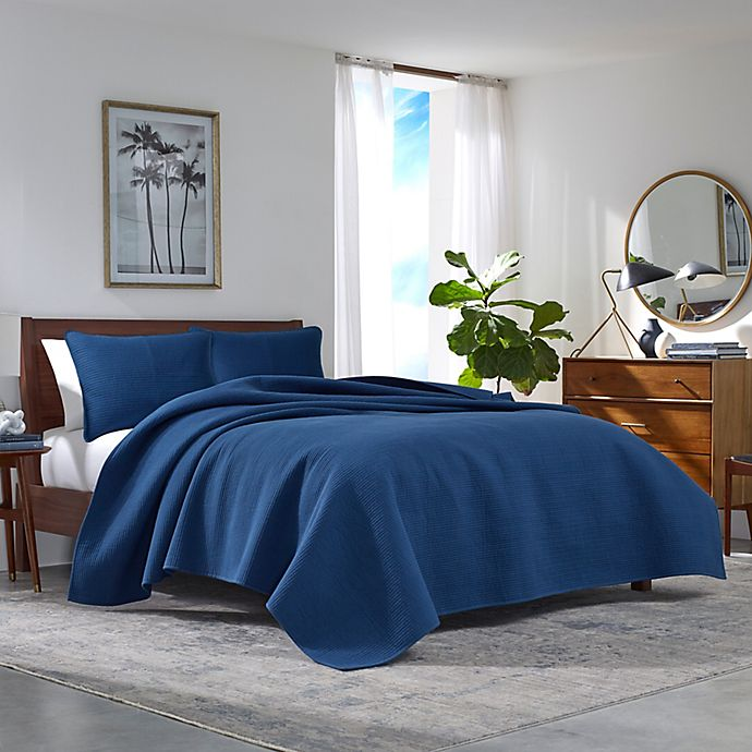 Alternate image 1 for Nautica® Haverhill Solid Quilt Set in Navy