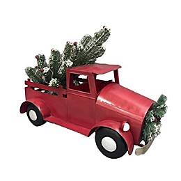 Christmas Pickup Truck in Red