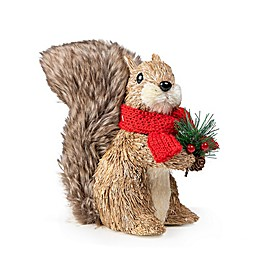 7-Inch Woodland Squirrel Christmas Figurine in Natural