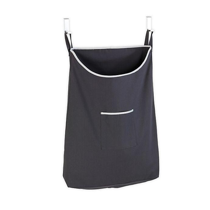 Alternate image 1 for Wenko Canguro Over-the-Door Laundry Bin in Grey