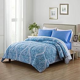 Felicia 4-Piece Reversible Comforter Set in Lilac