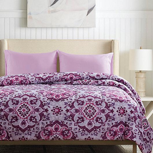 Alternate image 1 for Santiago 4-Piece Reversible Floral Comforter Set