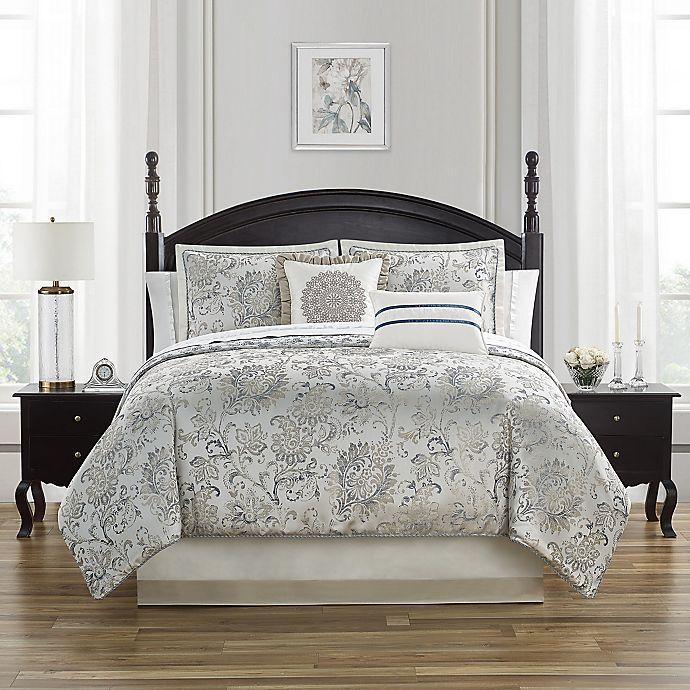Alternate image 1 for Waterford® Lynne 4-Piece Reversible Comforter Set
