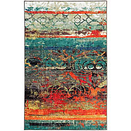 Mohawk Strata Eroded 1'8 x 2'10 Multicolor Accent Rug