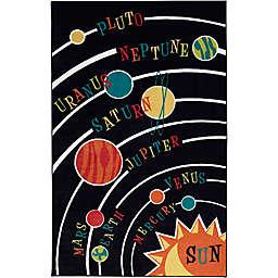 Mohawk Home Aurora Kids Solar System 3' 9 x 5' Area Rug in Black